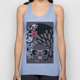 Afro Diva : Sophisticated Lady Pale Pink Peach Taupe Unisex Tank Top