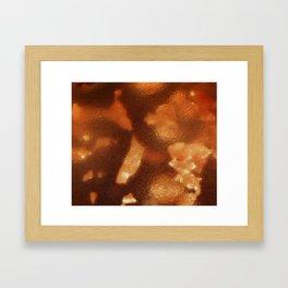 Amber Bead Framed Art Print