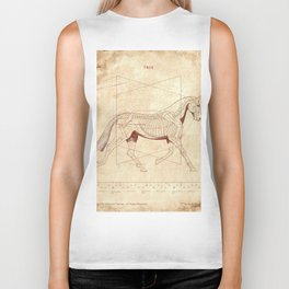 Da Vinci Horse: The Trot Revealed Biker Tank