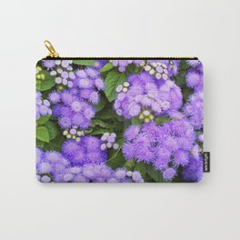 Violet Flower Garden Lavender Floral Pattern Purple Flower Patch Macro Photography Nature Still Life Carry-All Pouch