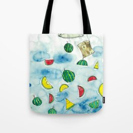 Why Watermelon Drop from Bottle? Tote Bag
