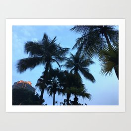 Palm trees at Sunway Lagoon Resort, Malaysia Art Print