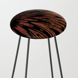 Native Tapestry in Burnt Umber Counter Stool
