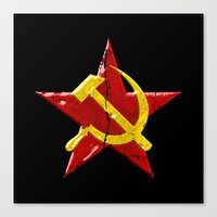 soviet Canvas Prints featuring Soviet symbol by Emma Harckham