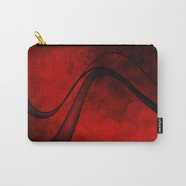 Rouge Crosshatched Wave Carry-All Pouch