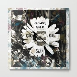 Flower Child with a Rock and Roll Soul Metal Print