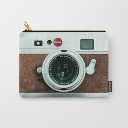 Retro brown leather Vintage camera iPhone 4 5 6 7 8 x, pillow case, mugs and tshirt Carry-All Pouch