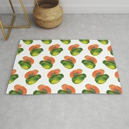 Watercolor Papaya Rug