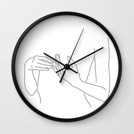 Line Hands 2 Wall Clock
