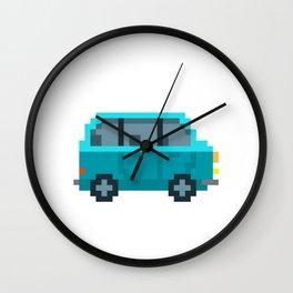 Pixel Hippie Van Wall Clock