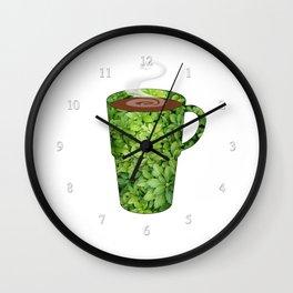 greenery extra large mug - coffee cup series Wall Clock