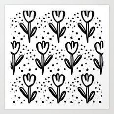 tulips filed Art Print