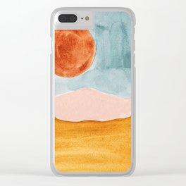 bohemian landscape Clear iPhone Case