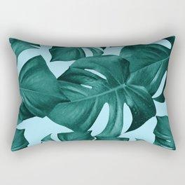 Monstera Leaves Pattern #7 #tropical #decor #art #society6 Rectangular Pillow