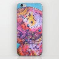 grafitti iPhone & iPod Skins featuring Grafitti Face by Whitney Woodrick