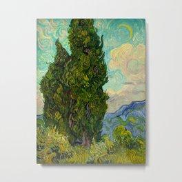 Cypresses Oil Painting Landscape Vincent van Gogh Metal Print