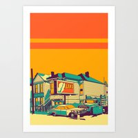 oakland Art Prints featuring Oakland by peter O'Toole