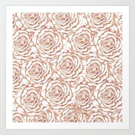 Elegant romantic rose gold roses pattern image Art Print