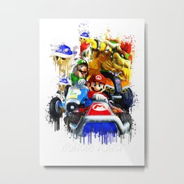 Mario Kart Metal Print