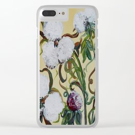 Cotton Squared Clear iPhone Case