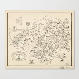 Map of Orange County, New York before 1810 Canvas Print