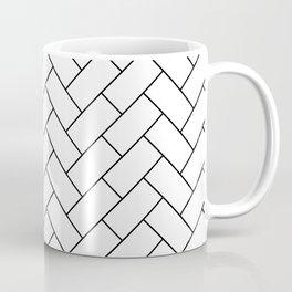 Traditional Herringbone - Black Coffee Mug