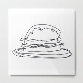 Cheeseburger Cheeseburger Metal Print