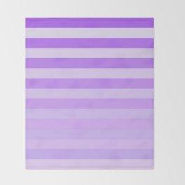 Purple Stripes Fade Throw Blanket