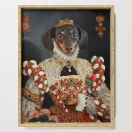 Queen Dixie - Dachshund Art Serving Tray