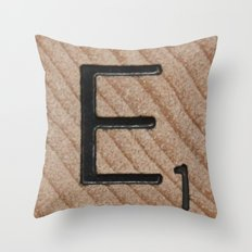 Tile E Throw Pillow