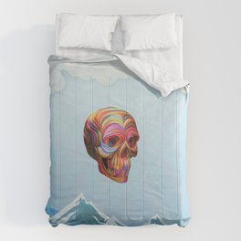 Skull Passes By Comforters