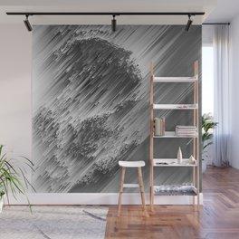 White pixel snow Wall Mural