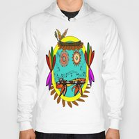 hippie Hoodies featuring Hippie Smilie by Wired Circuit