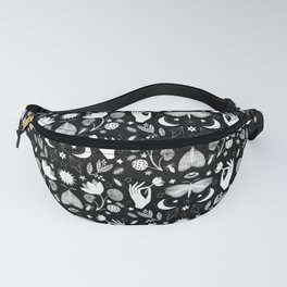 Lotus and Moths Fanny Pack