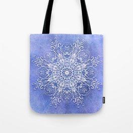 Baroque style mandala on grunge background Tote Bag