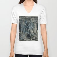 hunting V-neck T-shirts featuring Hunting by GLR67