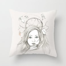 Down and Down and Down Throw Pillow