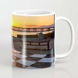 Checkerboard Sunset Coffee Mug