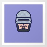 robocop Art Prints featuring ROBOCOP by M. Gulin
