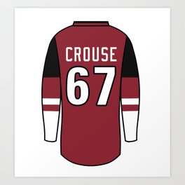 Lawson Crouse Jersey Art Print