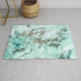 MARBLE - INKED INCEPTION - GOLD & ICE Rug