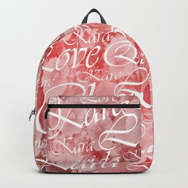 love, word, language, happy, design, graphic, message, text, greeting, multiple, symbol, valentine, Backpack