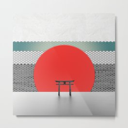 The Red Sun Metal Print