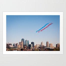 Patrouille de France over Kansas City Art Print