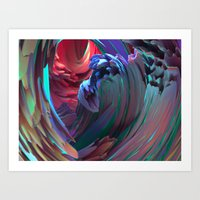 surf Art Prints featuring Surf by Choerte