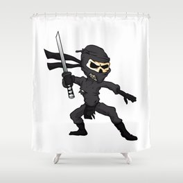 skull ninja cartoon. Shower Curtain