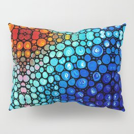 Abstract 2 - Colorful Original Art Painting by Sharon Cummings Primary Colors Pillow Sham