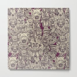 gargoyles purple Metal Print
