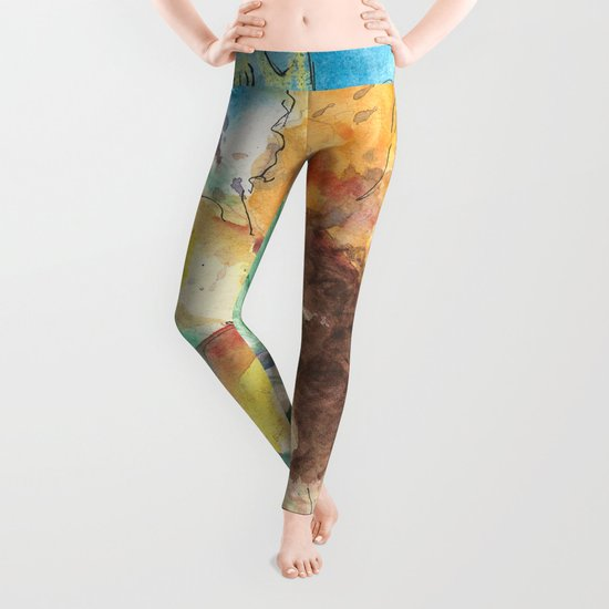 Happy Sunflower Leggings