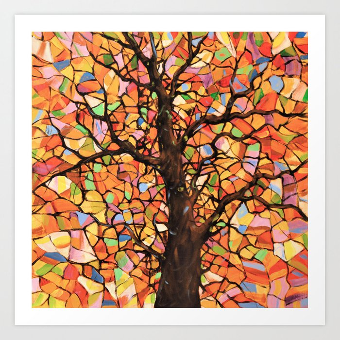 Stained Glass Tree 2 Art Print By Amygiacomelli Society6